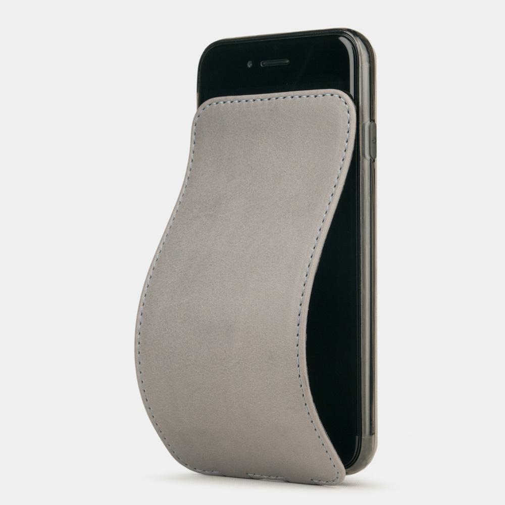 Чехол для iPhone 7 из натуральной кожи теленка, светло-серого цвета