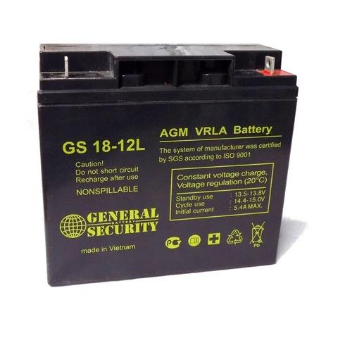 Аккумулятор GS 18-12L (12В 18А/ч)