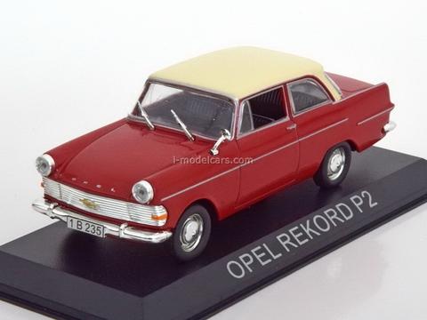 Opel Rekord P2 red 1:43 DeAgostini Masini de legenda #55