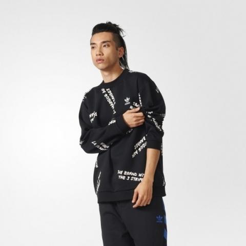 Свитшот мужской adidas ORIGINALS NYC GRAFFITI CREW