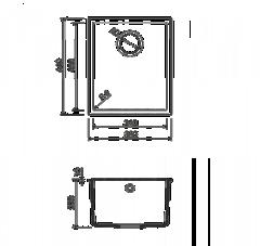 Схема Omoikiri Bosen 38-U-WH