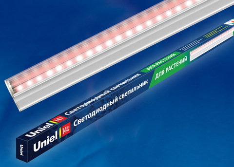 ULI-P17-14W/SPLE IP20 WHITE Светильник для растений светодиодный линейный, 870мм, выкл. на корпусе. Пластик. Спектр для фотосинтеза. TM Uniel.