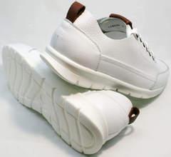 Модные мужские кроссовки белые Faber 193909-3 White.