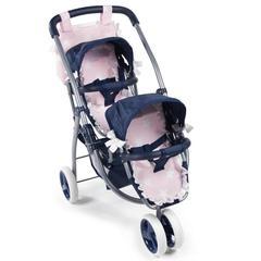 La Nina Трехколесная коляска для двух кукол серия Карлота, 81 см.  (60421)