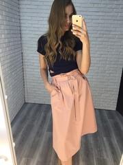 длинная юбка розовая недорого