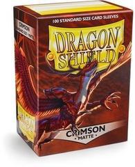 Протекторы Dragon Shield матовые Crimson (100 шт.)