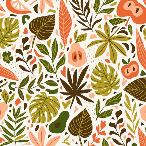 Фрукты и листья