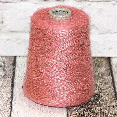 Пайетки на полиамиде LAGOPOLANE / KIDPAI розово-бежевый с серебром