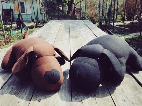 Подушка-игрушка антистресс «Мохнатый Патрик Черный» 3
