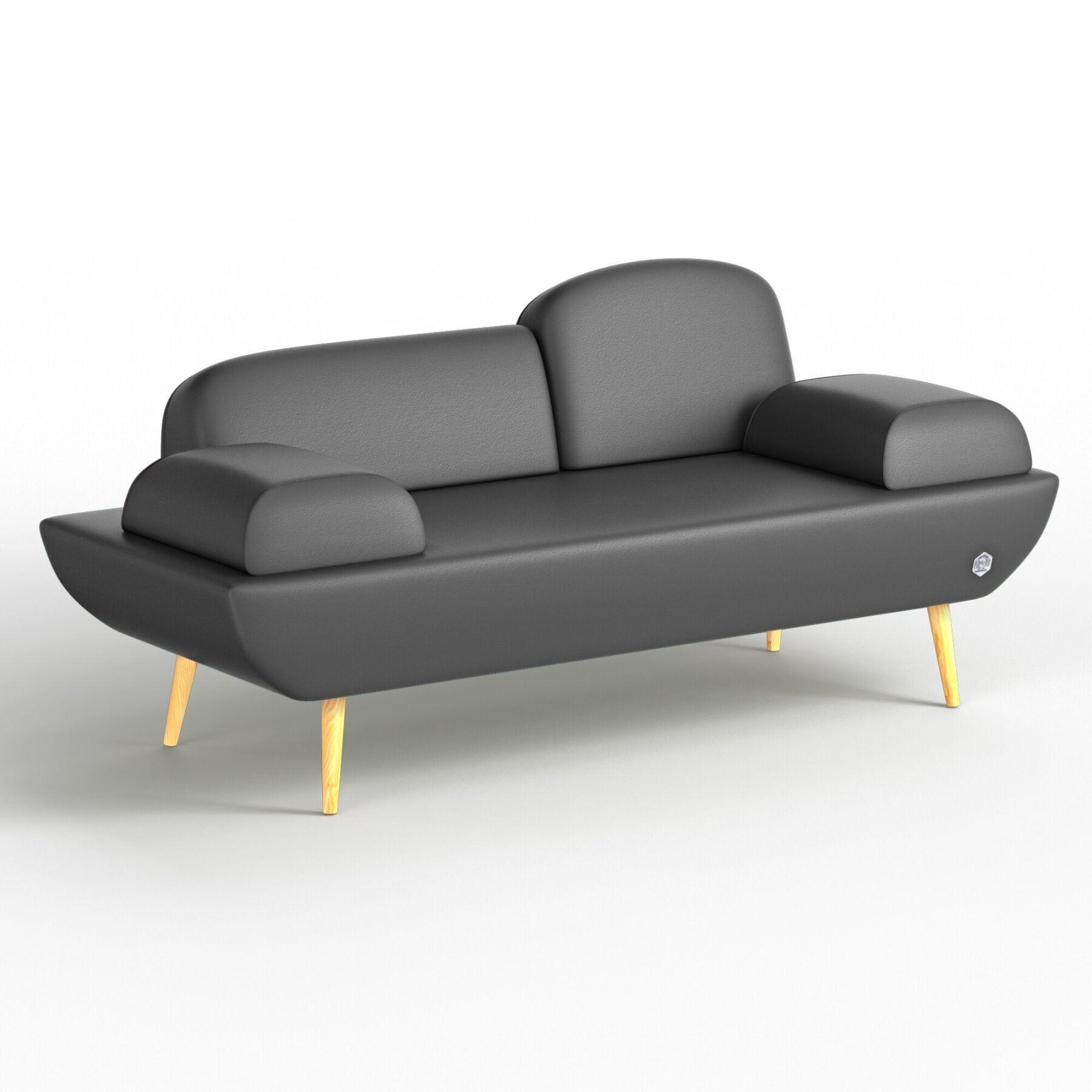 Двухместный диван KULIK SYSTEM LOFT Кожа Целый
