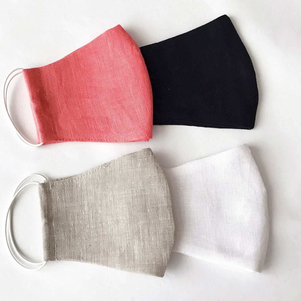 Защитная льняная маска многоразовая купить
