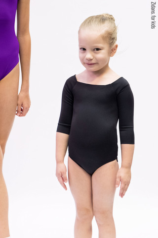 2 Sleeves leotard | black