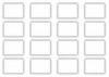 Набор наклеек 4,5х6 см, прямоугольные, 2 листа, узор