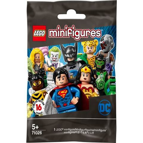 LEGO Minifigures: Серия Супергерои ДиСи 71026 — LEGO Minifigures - DC Super Heroes Random Bag — Лего Минифигурки