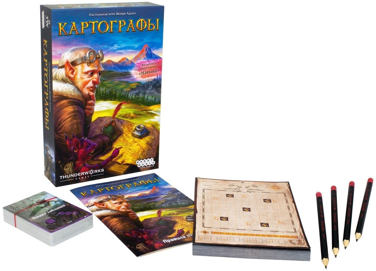 Настольная игра Картографы - комплектация
