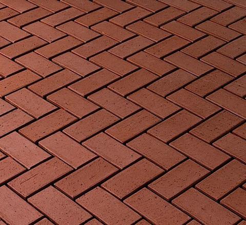 Vandersanden - Cortona O., тёмно-красный, 200x100x45 - Клинкерная тротуарная брусчатка