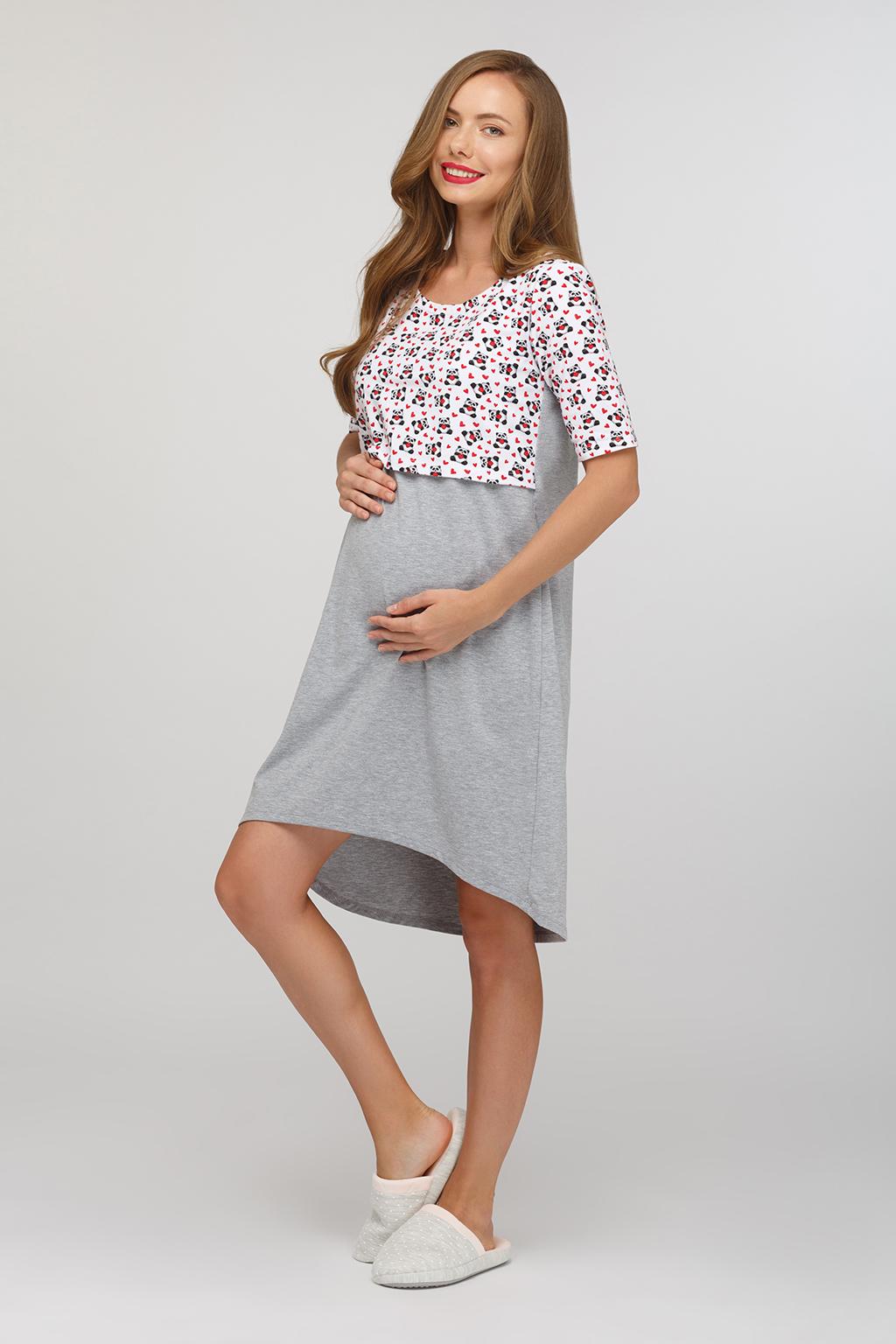 Ночная сорочка для будущих и кормящих мам - Фото 1