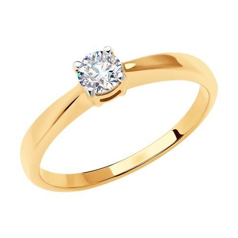 018635 - Кольцо из золота с фианитом