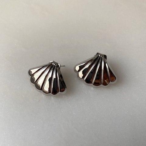 Серьги Кори, серебряный цвет