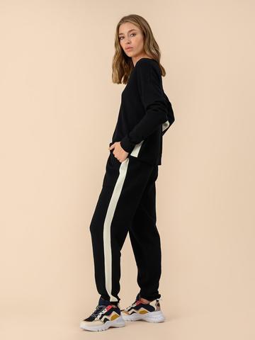 Женские брюки черного цвета из 100% шерсти - фото 5