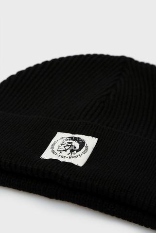 Черная шерстяная шапка K-CODER-F Diesel