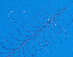 Набор линеек-шаблонов для стежки перьями и узора РОЗЕТКА