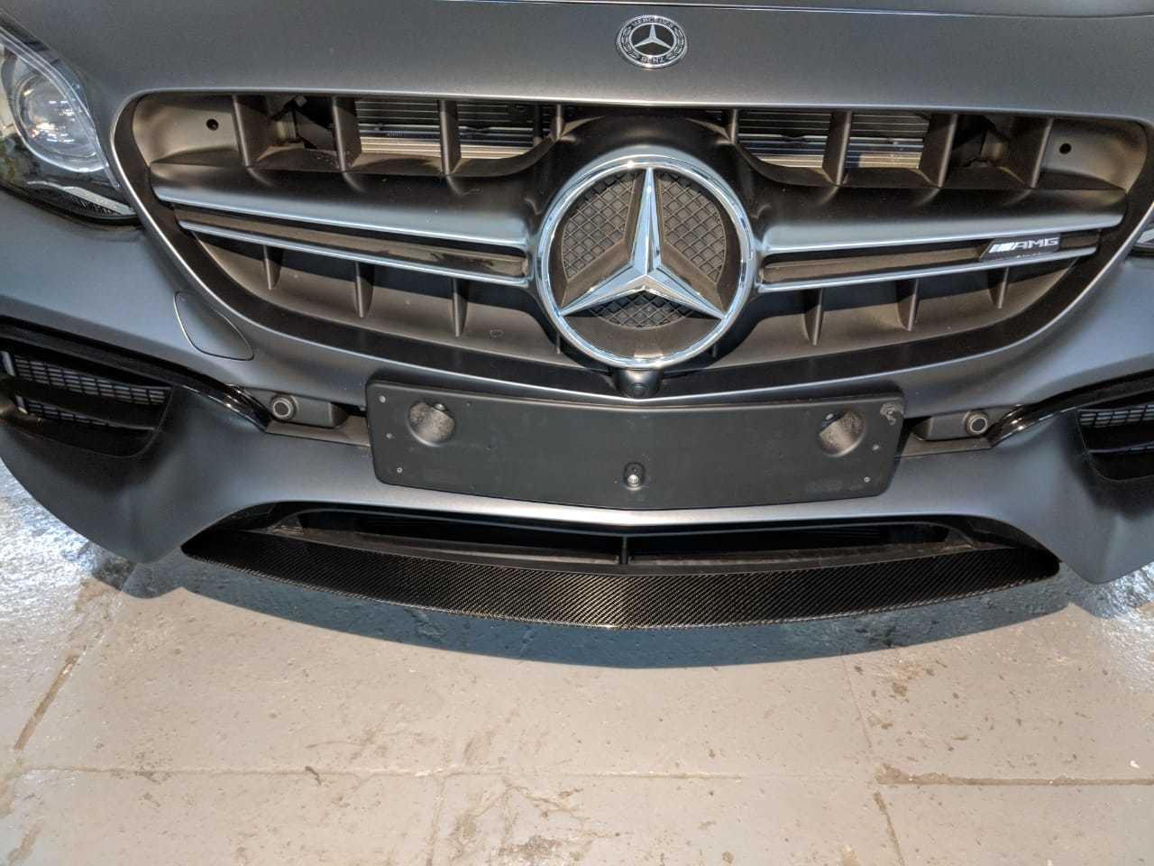 Карбоновый спойлер переднего бампера   для Mercedes E63 AMG W213