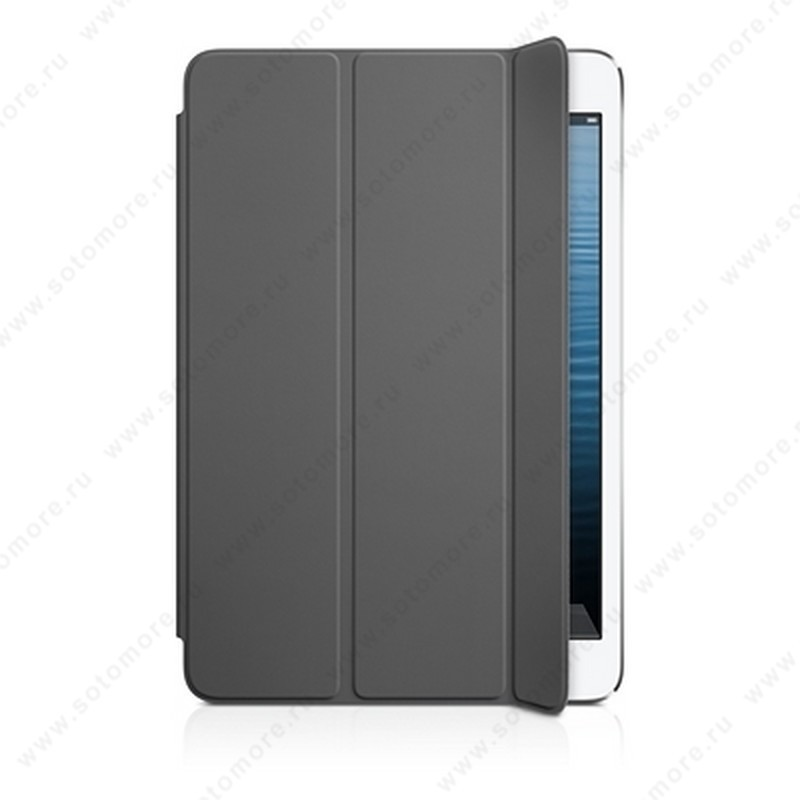 Чехол-обложка полиуретановая Apple Smart Cover для Apple iPad Mini 3/ 2/ 1 MD963 - Темно-серый ORIGINAL