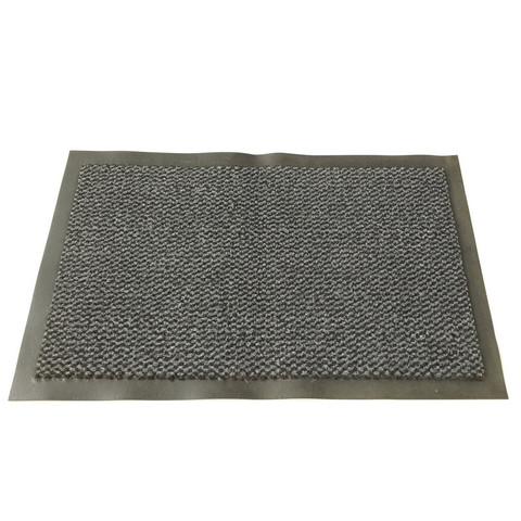 Коврик входной влаговпитывающий ворсовый износостойкий 60х90см серый