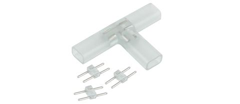 Т-образный переходник для светодиодной ленты 220V 3528, 2835 (10 шт.) a035328