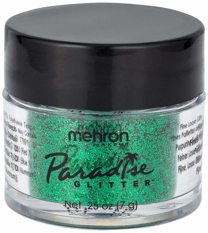 MEHRON Рассыпчатые блестки Paradise Glitter, Green (Зеленый), 7 г