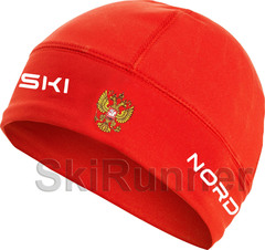 Лыжная шапка Nordski Active Red Rus 2020