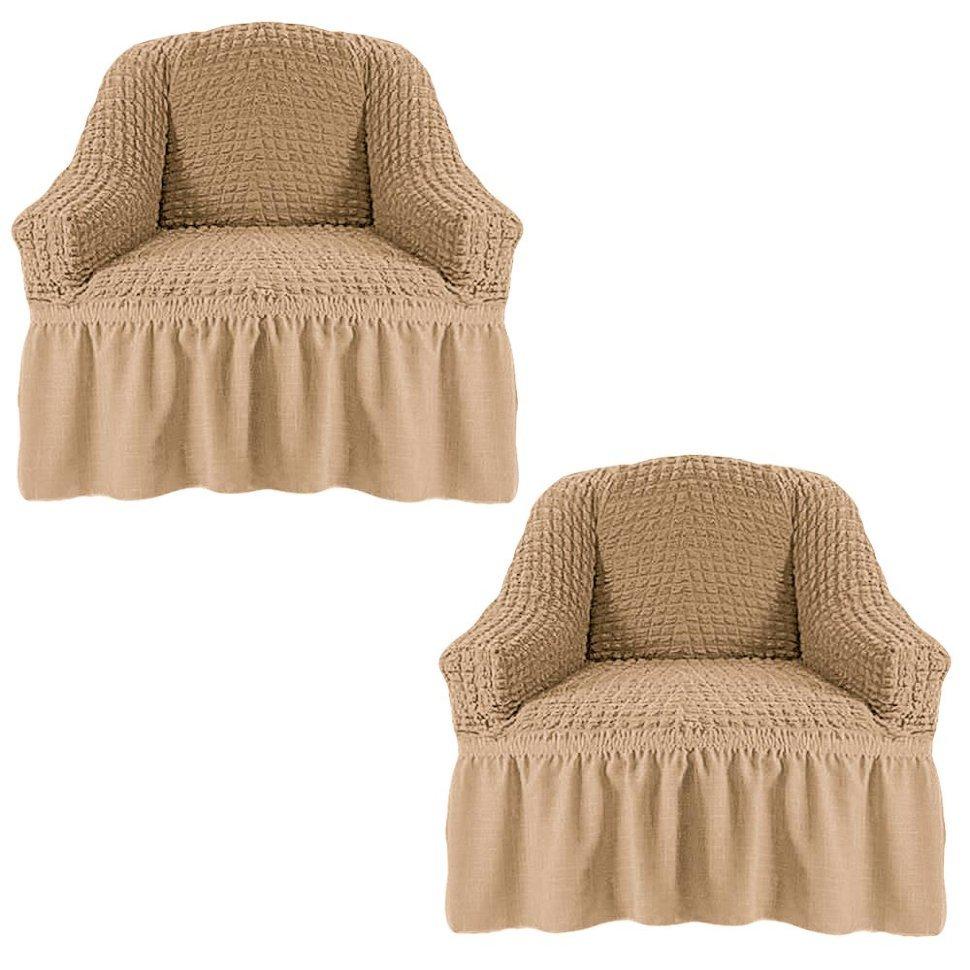 Чехол на два кресла, бежевый
