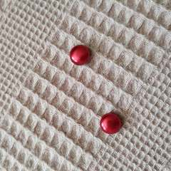 Элегантный магнит для платка, шарфа, палантина (магнитная брошь) перламутр красный