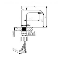 Смеситель KAISER Nove 06011 для раковины схема