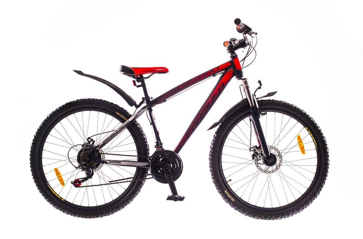 Горный мужской велосипед Formula Blizzard DD (Формула Близард) черно-красный