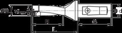 KOMET KUB Quatron® Сборное сверло с СМП комбинированный хвостовик 2×D
