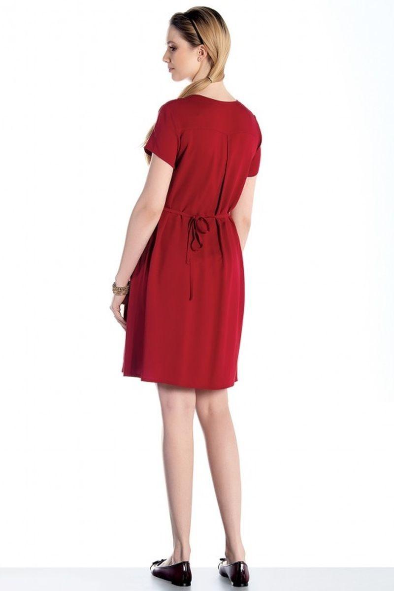 Фото платье-рубашка для беременных EBRU от магазина СкороМама, красный, размеры.