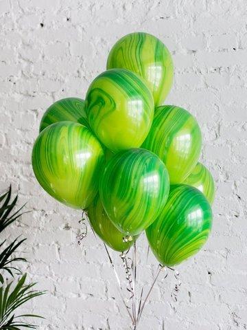 Воздушные шары агат зеленый