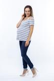 Блузка для беременных 08612 синий