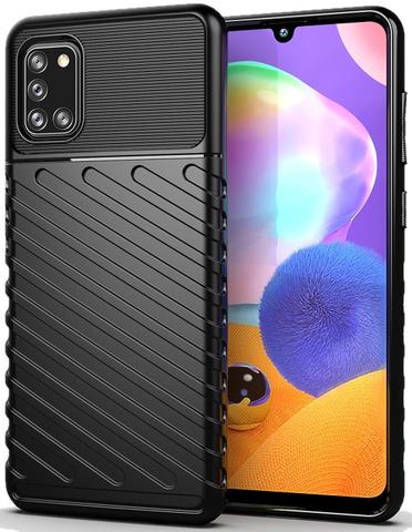 Ударопрочный чехол на Samsung Galaxy A31 черного цвета, серия Onyx, Caseport