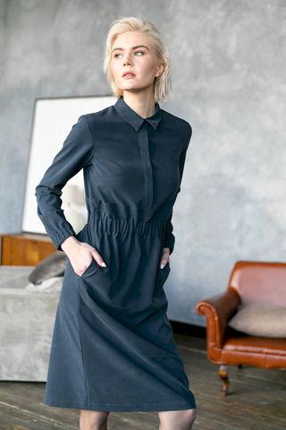 Фото платье-футляр с длинными рукавами и круглым отложным воротником - Платье З468-301 (1)