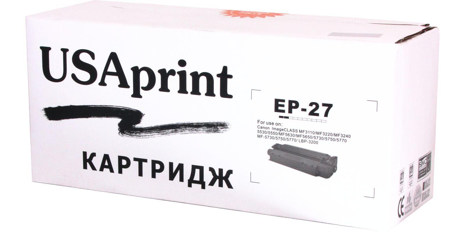 USAprint EP26/EP27, черный, для Canon