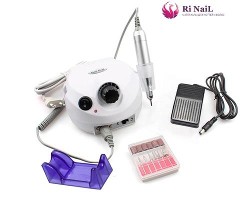 Аппарат для маникюра и педикюра nail drill 25000, белый