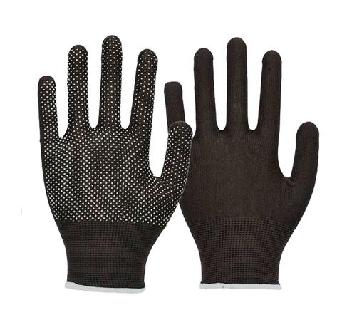 Перчатки нейлоновые с ПВХ черные ЭКОНОМ