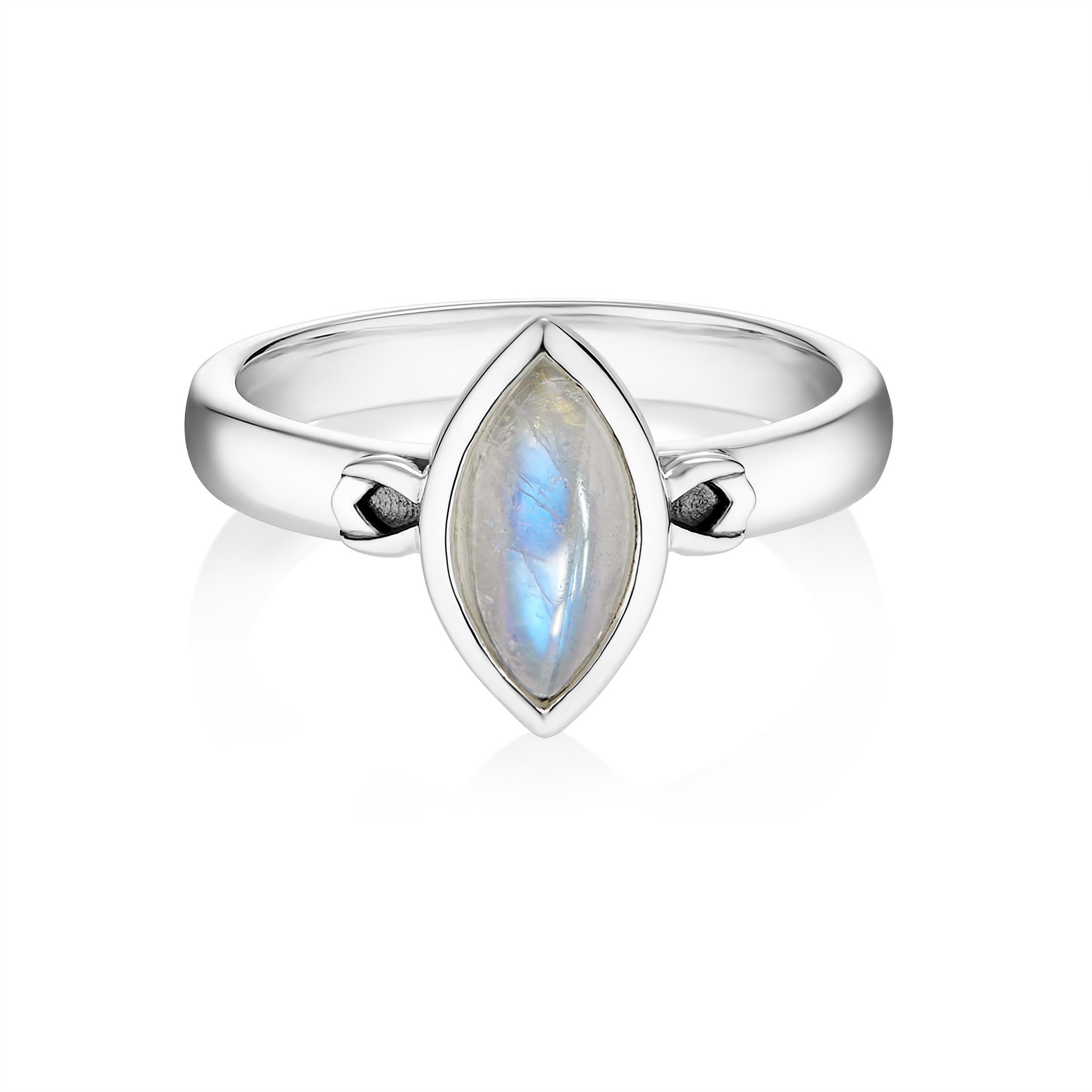 Кольцо PETALA - Лунный камень
