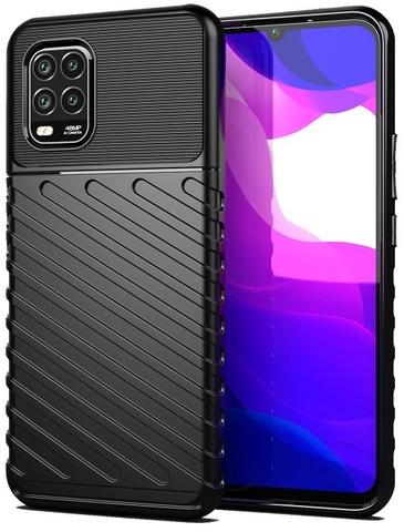Мягкий защитный чехол на Xiaomi Mi 10 Lite, черный цвет, серии Onyx от Caseport