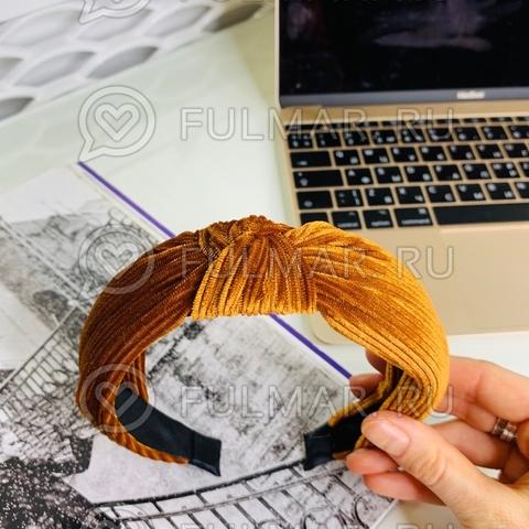 Ободок с узлом  модный на голову женский  для волос (цвет: медный)