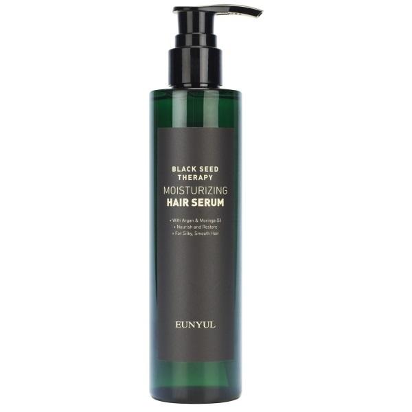 Сыворотка для волос увлажняющая с маслом арганы и моринги Eunyul Black Seed Therapy Moisturizing Hair Serum 200мл