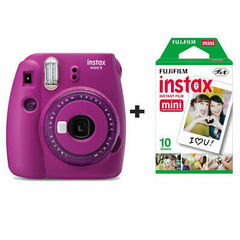 Fotoaparat Fujifilm Instax Mini 9 Instant Camera in Clear Purple with 10 Shots
